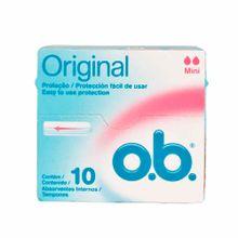 tampon-o.b-mini-sin-aplicador-caja-10un