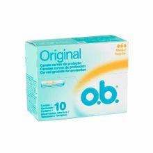 tampon-o.b-medio-sin-aplicador-caja-10un