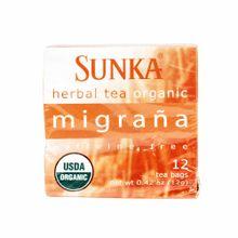 Infusiones-SUNKA-Te-organico-migraña-Caja-12Gr