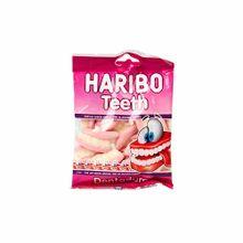 Gomas-dulces-HARIBO-TEETH-Sabores-a-fresa-y-vainilla-Bolsa-100Gr