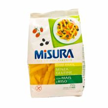 Fideos-MISURA-PENNE-RIGOTE-De-maiz-con-arroz-sin-gluten-Bolsa-250Gr