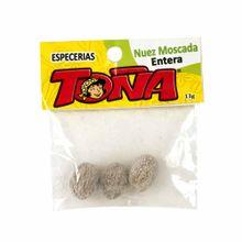 Especia-TOÑA-Nuez-moscada-entera-Frasco-13Gr