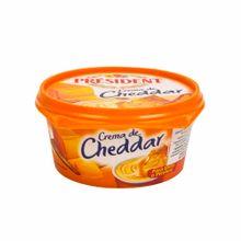 Queso-PRESIDENT-Crema-cheddar-Pote-125Gr