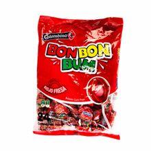 Chupetes-BOM-BOM-BUM-Con-chicle-sabor-fresa-Bolsa-24Un