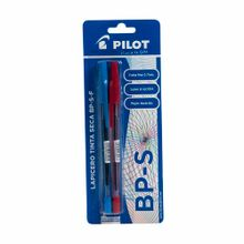 boligrafo-pilot-azul-y-rojo