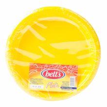 plato-bells-descartable-amarillo-7-paquete-10un