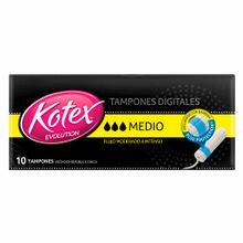tampon-kotex-evolution-medio-sin-aplicador-caja-10un