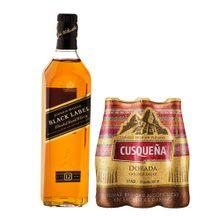 whisky-johnnie-walker-black-cerveza-cusquena-golden-lager