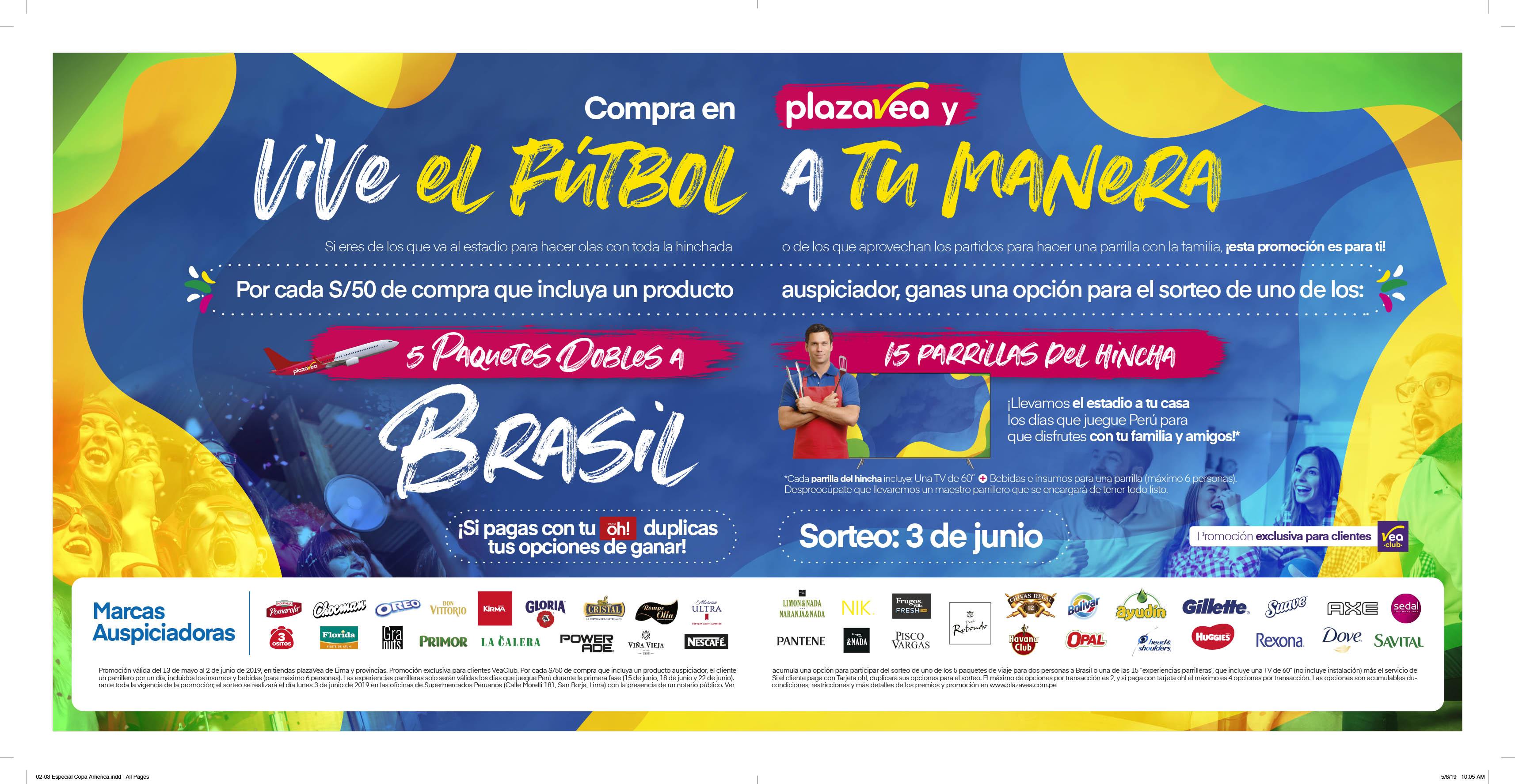 edbdf15a3 Promoción válida del 13 de mayo al 2 de junio de 2019, en tiendas plazaVea  de Lima y provincias. Promoción exclusiva para clientes VeaClub.