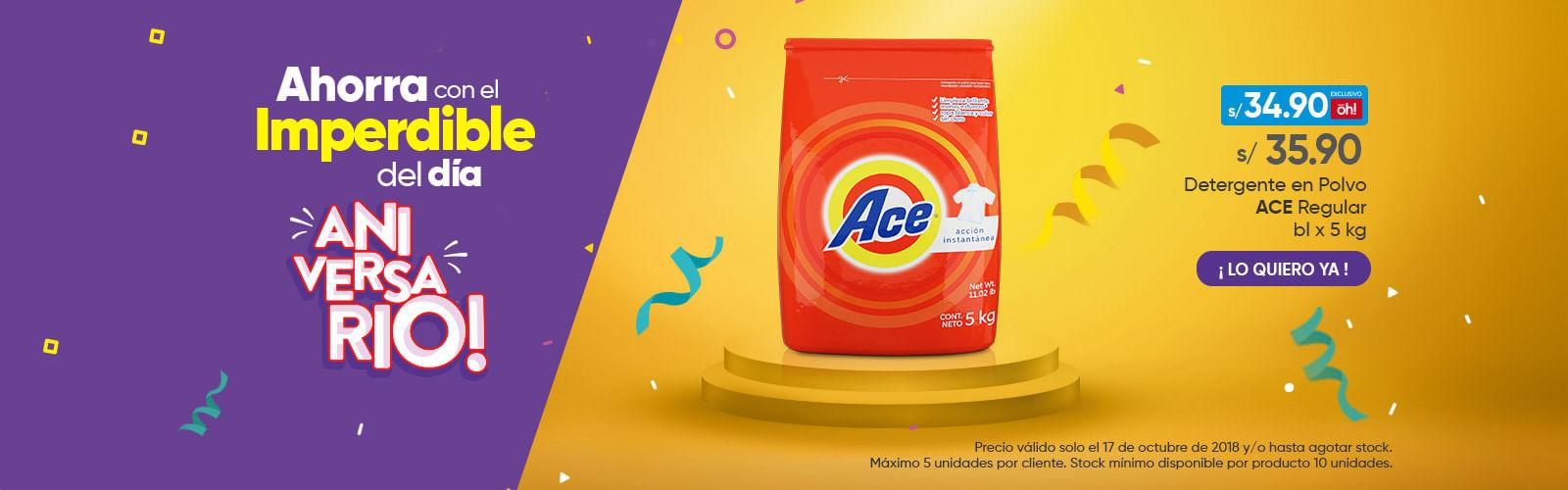 Detergente en Polvo ACE