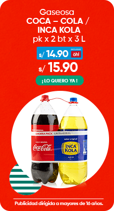 Gaseosa COCA – COLA / INCA KOLA