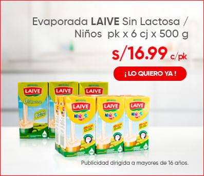 Evaporada LAIVE Sin Lactosa