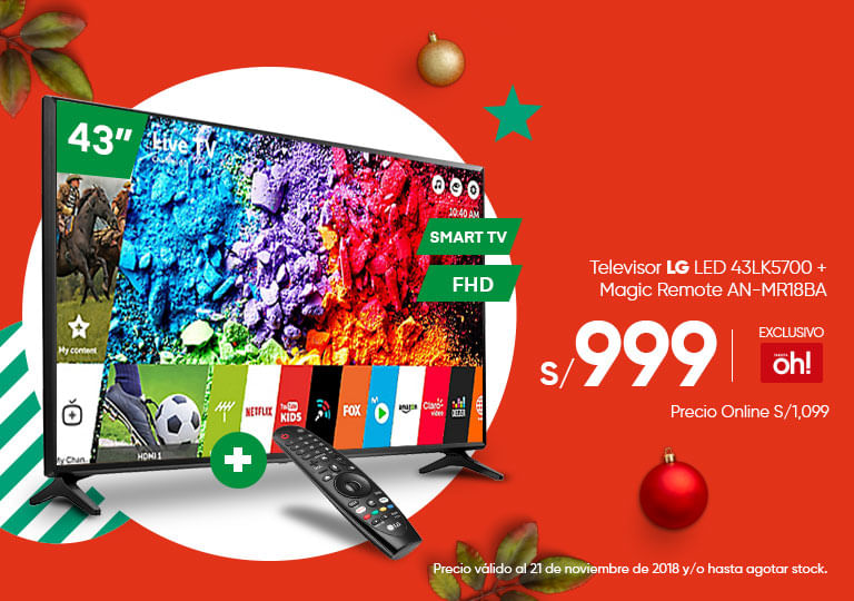 Televisor LED LG 43 + Control Magic