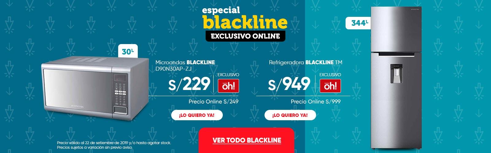 Microondas BLACKLINE D90N30AP-ZJ Refrigeradora BLACKLINE TM