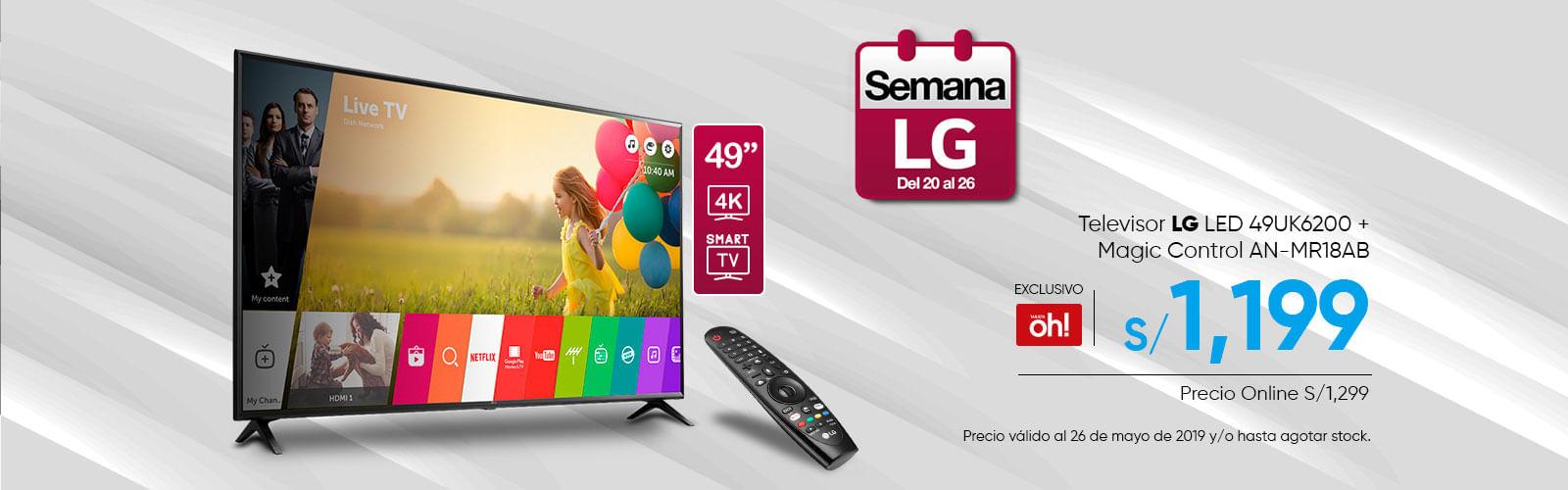Televidor LG LED 49UK6200