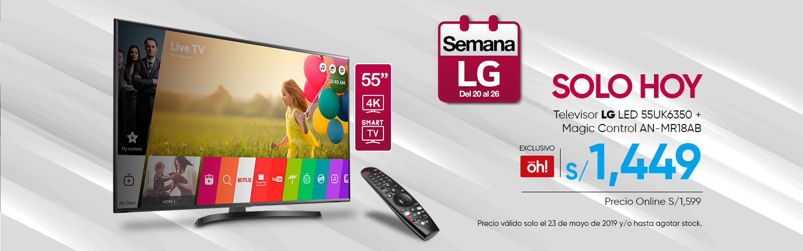 Televidor LG LED 55UK6350