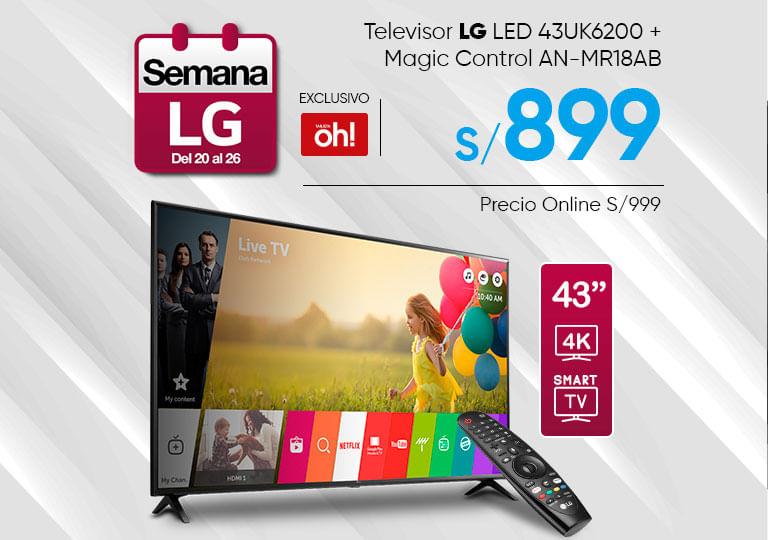 Televisor LG LED 43UK6300