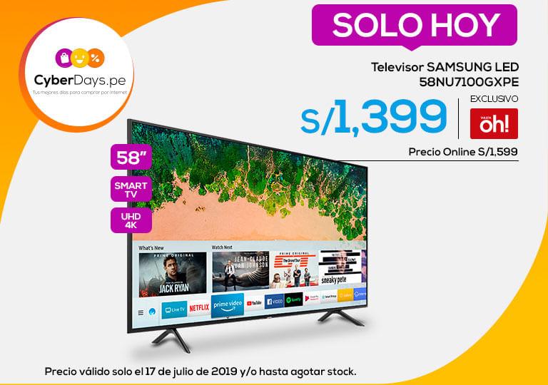 Televisor SAMSUNG LED 58NU7100GXPE