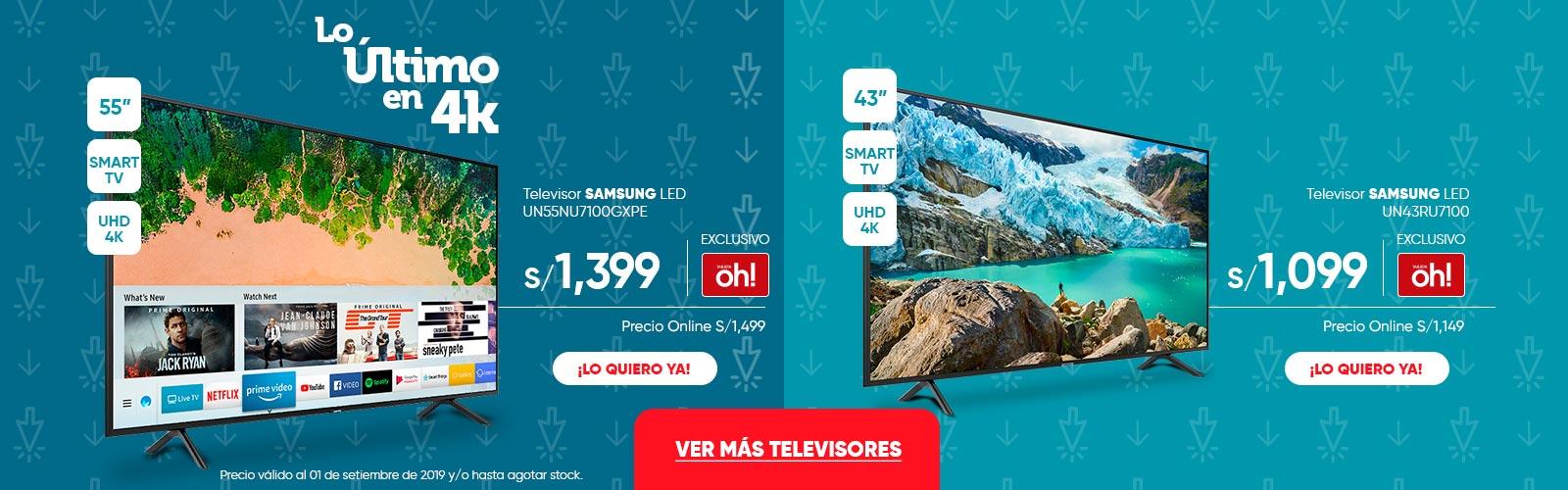 Televisor SAMSUNG LED UN55NU7100GXPE UN43RU7100