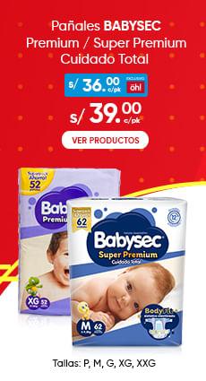 Panales BABYSEC Premium Super Premium Cuidado