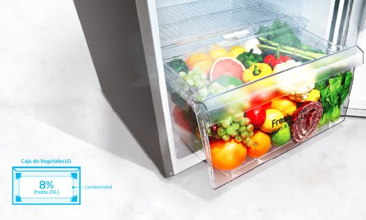 cajón refrigeradora lg