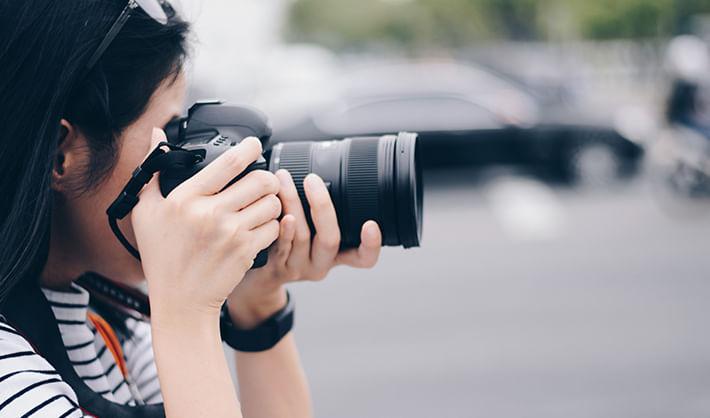 fotografia camara lente