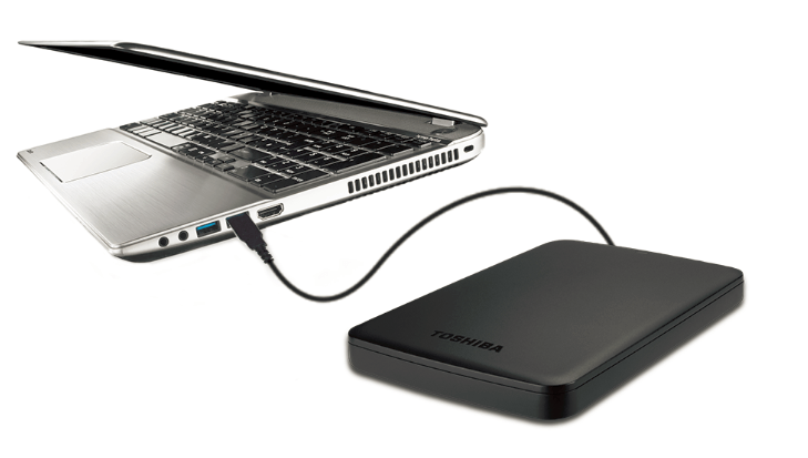 funcionamiento plug and play memoria externa portable toshiba