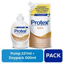 pack-protex-jabon-liquido-avena-doypack-500ml-frasco-221ml
