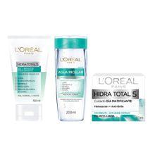 pack-loreal-hidra-total-gel-frasco-150ml-crema-revitalift-frasco-30ml-agua-micelar-frasco-200ml