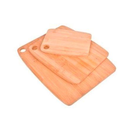 Set x 3 tablas de cortar de bambú