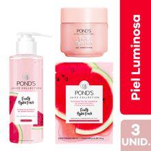 pack-pond-s-fresh-sandia-mascarilla-sobre-26g-limpiador-facial-frasco-200ml-gel-hidratante-pote-110g