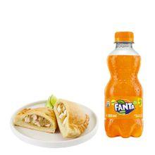 empanada-de-pollo-gaseosa-fanta-naranja-botella-300ml
