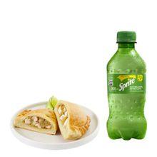 empanada-de-pollo-gaseosa-sprite-botella-300ml
