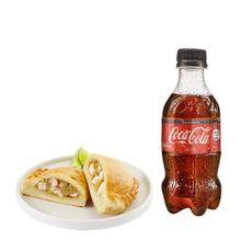 empanada-de-pollo-gaseosa-coca-cola-sin-azucar-botella-300ml