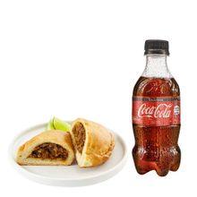 empanada-de-carne-gaseosa-coca-cola-sin-azucar-botella-300ml