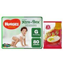pack-huggies-panales-active-sec-pants-talla-g-paquete-80un-avena-3-ositos-premium-bolsa-1kg