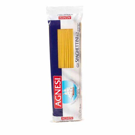 FIDEOS-AGNESI-SPAGHETTI-Pasta-de-semola-de-grano-duro-Bolsa-500g