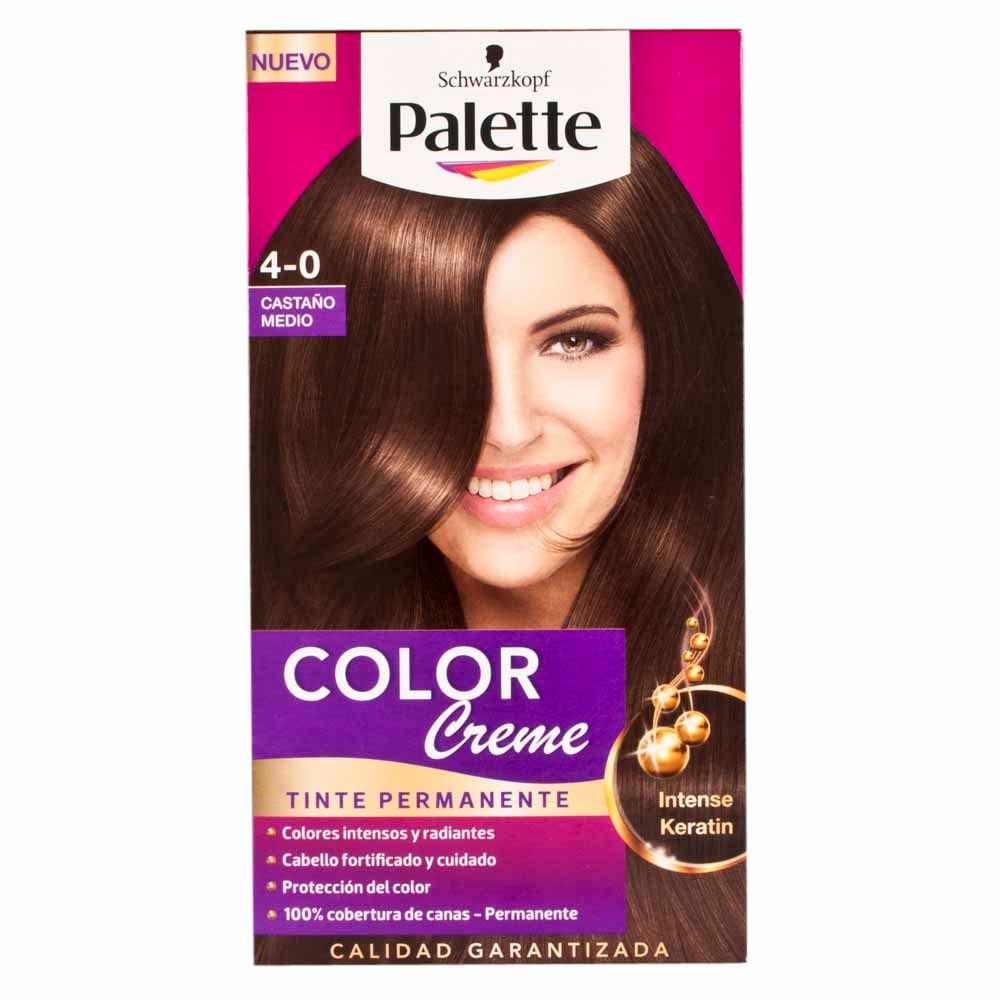 Colores de tintes para el cabello palette