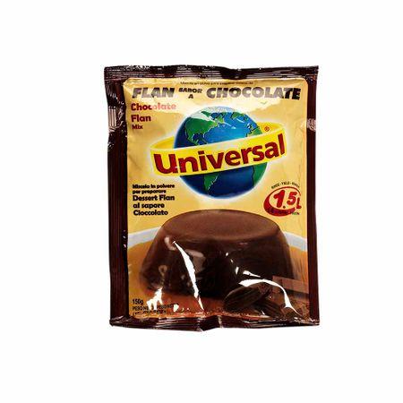 Mezcla-en-polvo-UNIVERSAL-Flan-sabor-a-chocolate-Bolsa-150Gr