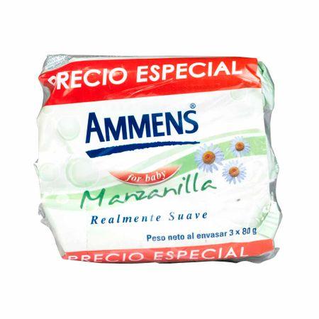 Jabon-para-Bebe-AMMENS-For-baby-3-Pack-80Gr