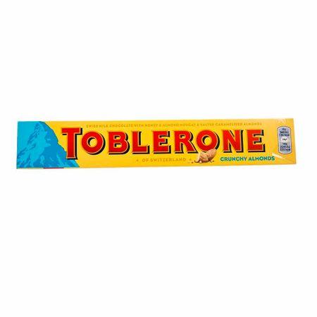 Chocolate-TOBLERONE-CRUNCHY-ALMONDS-Suizo-con-miel-Caja-100Gr