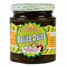 Conserva-DELLICIA-Encurtido-dulce-de-pepinillo-Frasco-250Gr