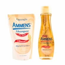 shampoo-para-bebe-ammens-avena-frasco-400ml-doypack-400ml
