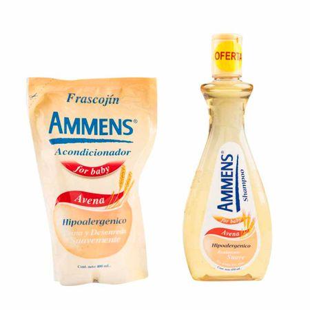 shampoo-para-bebe-ammens-avena-frasco-400ml-acondicionador-doypack-400ml