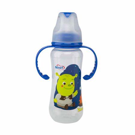 accesorios-para-bebe-ninet-biberon-shrek-con-asas-acinturado-9oz-azul