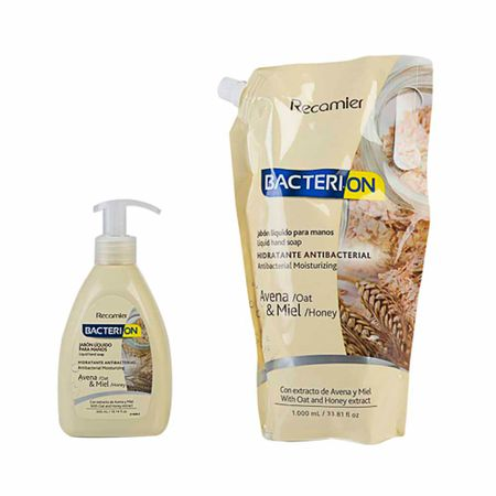 jabon-medicado-bacterion-liquido-avena-1000ml-300ml-paquete-2un