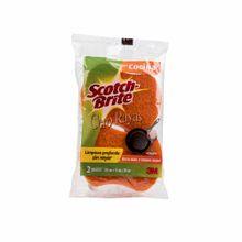 esponja-3m-cero-rayas-naranja-fibra-paquete-2un