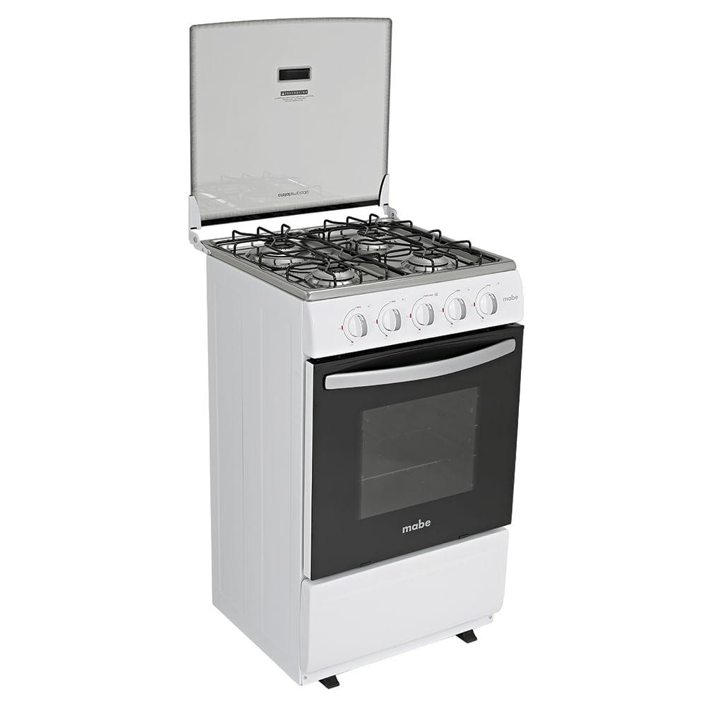 Cocina A Gas Mabe 4 Quemadores Emp5110bp0 Blanco Plazavea