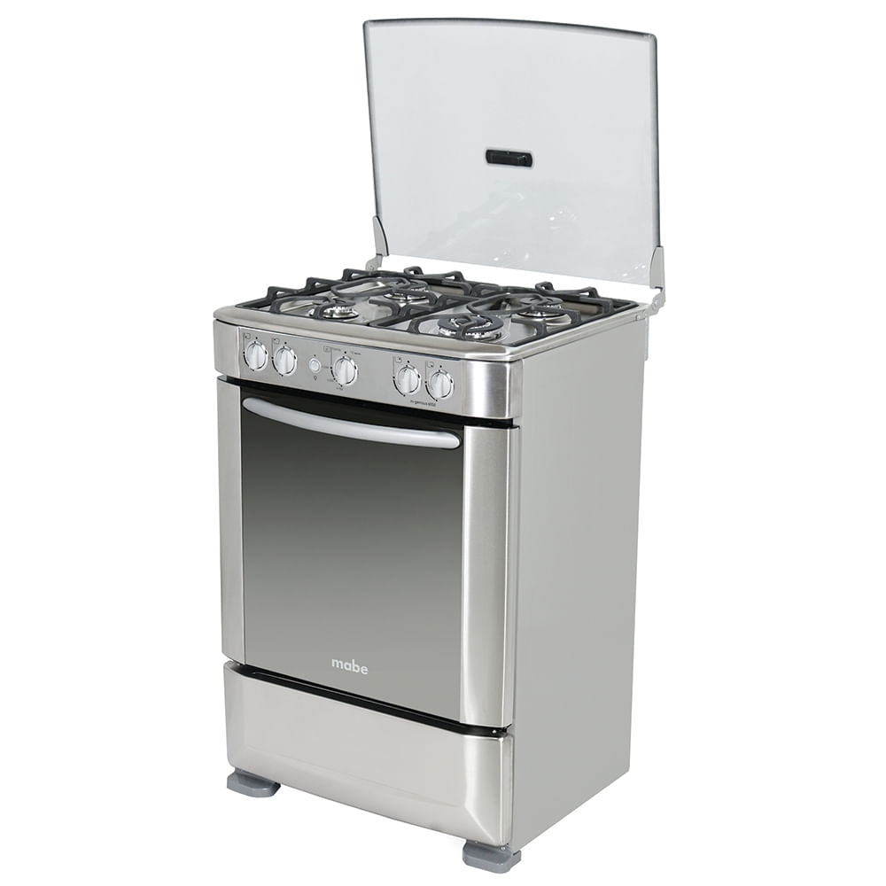 Cocina A Gas Mabe 4 Quemadores Ingenious6050px Plateado
