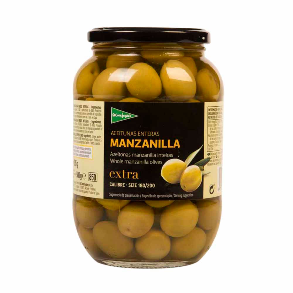 Aceituna El Corte Ingles Con Manzanilla Frasco 835gr Plazavea Food ~ Tazas Para Infusiones El Corte Ingles